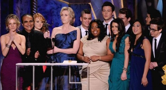 Glee cast at awards bash