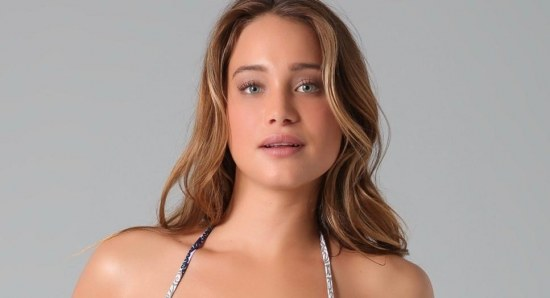 Hannah Davis poses for photoshoot