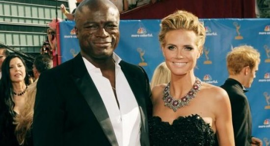 Heidi Klum with Seal at an awards show