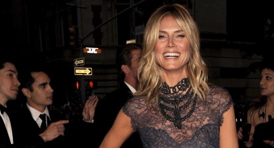Heidi Klum at a fashion events in NYC