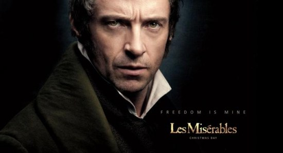 Hugh Jackman Les Miserables poster
