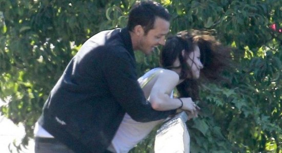 Rupert Sanders and Kristen Stewart together