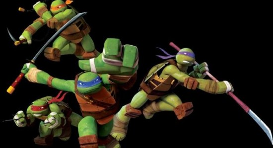 Cartoon version of the turtles