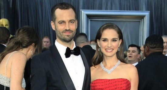 Natalie Portman and Benjamin Millepied at the Oscars last year