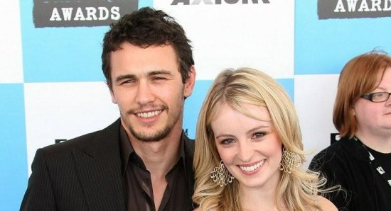 James Franco with his ex-girlfriend at the Spirit Awards