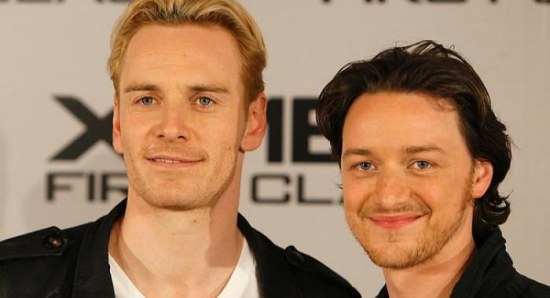 James McAvoy with Michael Fassbender