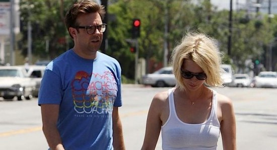 January Jones with her ex-boyfriend Jason Sudeikis