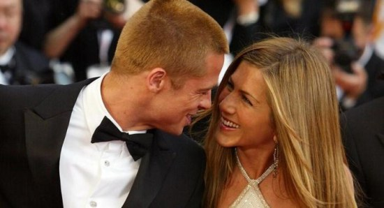 Jennifer Aniston with ex Brad Pitt