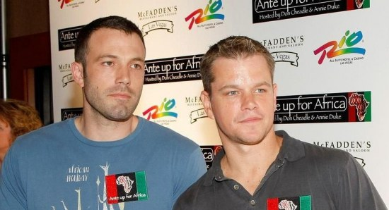 Ben Affleck and Matt Damon at a charity event