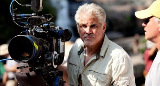 Gary Ross on the set of 'The Hunger Games'