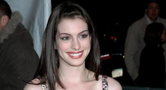 Anne Hathaway comes in third place