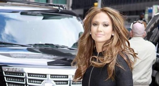 Jennifer Lopez gets ready for a talk show appearance