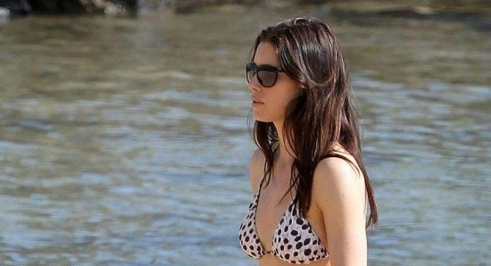 Jessica Biel in a bikini at the beach