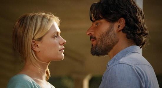 Joe Manganiello with Anna Paquin in True Blood