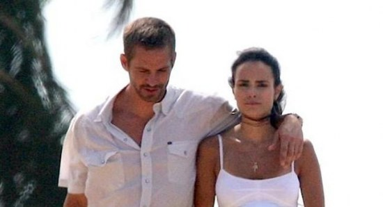 Jordana Brewster with Fast and Furious co-star Paul Walker