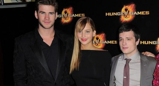 Josh Hutcherson with The Hunger Games cast