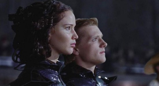 Jennifer Lawrence and Josh Hutcherson in 'The Hunger Games'