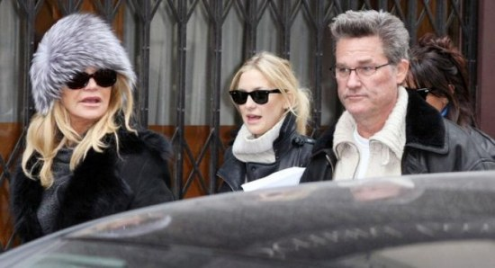 Kate Hudson with her famous parents