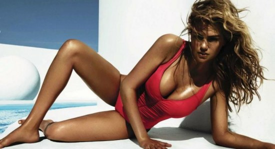Kate Upton, not exactly fat now is she