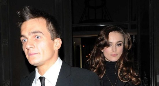 Keira Knightley with her ex-boyfriend Rupert Friend in London