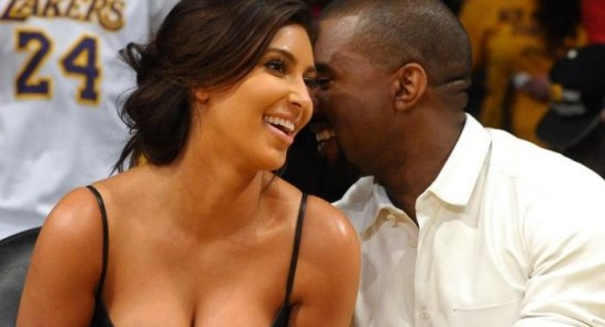 Kim Kardashian and boyfriend Kanye West share a giggle