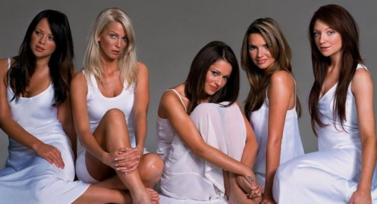 Girls Aloud when they were younger
