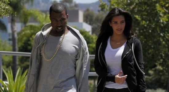 Kim Kardashian with new fella Kanye West