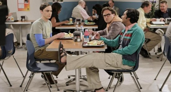 Scene from The Big Bang Theory