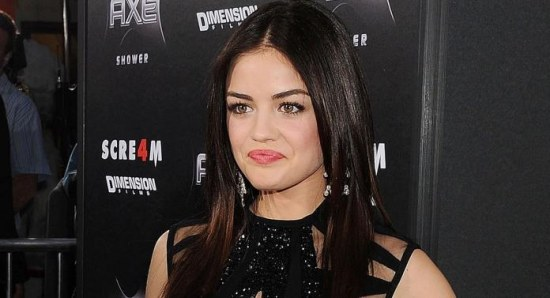 Lucy Hale at the premiere of Scream 4