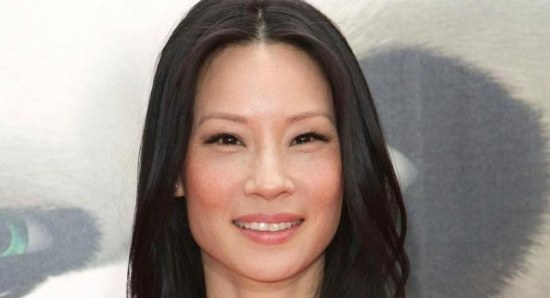 Lucy Liu at a film premiere