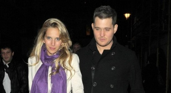 Michael Buble and Luisana Lopilato take a stroll