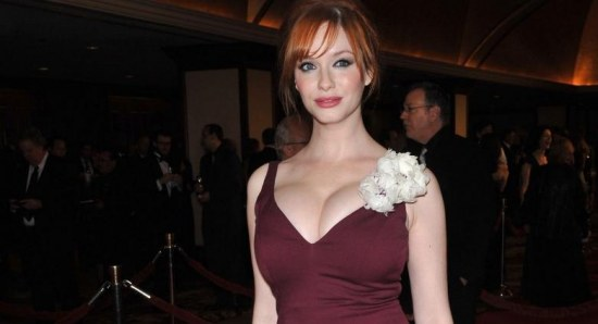 Christina Hendricks boobs were a worry
