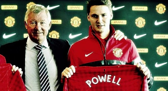 Sir Alex Ferguson with Nick Powell