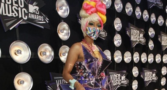 Nicki Minaj in one of her wacky costumes
