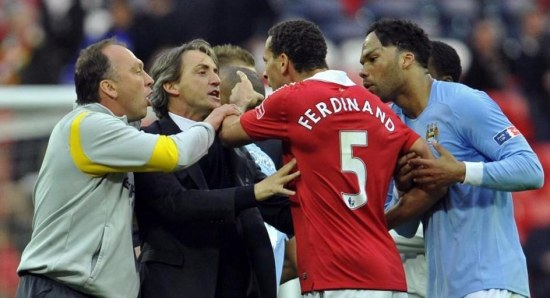 The Manchester derby gets heated