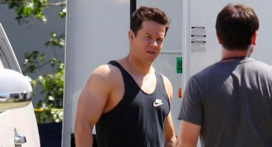 Mark Wahlberg filming Pain and Gain