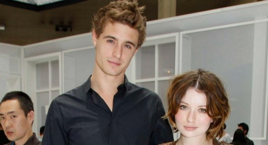Max Irons with his ex-girlfriend Emily Browning