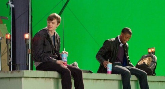 Michael B. Jordan and Dane Dehaan filming 'Chronicle'