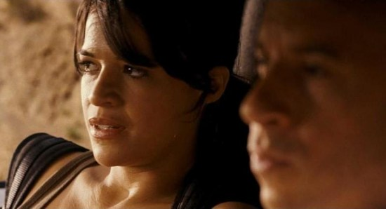 Michelle Rodriguez in Fast and Furious movie