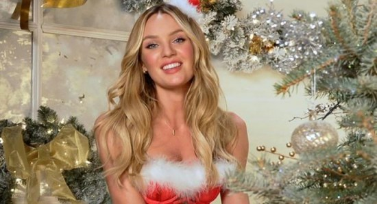 Candice Swanepoel in Deck the Halls video