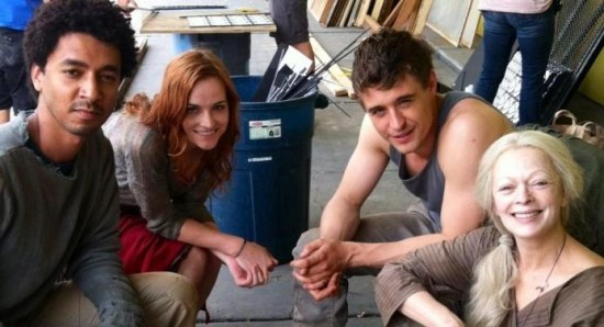 Frances Fisher with Max Irons and Raeden Greer
