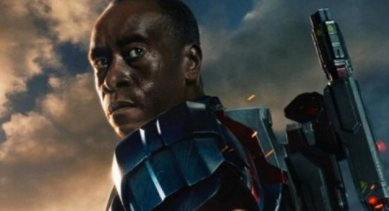 Don Cheadle as in Iron Patriot armour