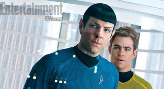 Captain Kirk and Spock in Star Trek Into Darkness