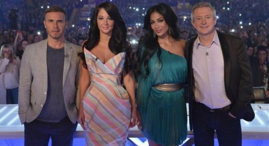 The X Factor judges 2012