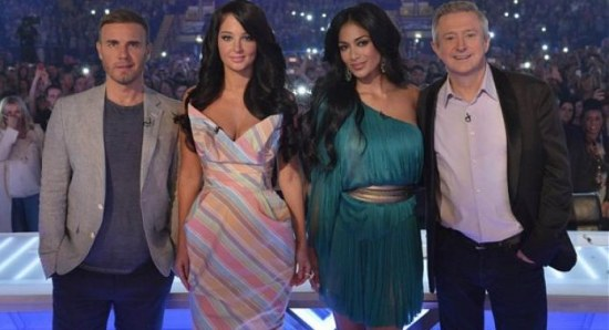 Nicole Scherzinger with fellow X Factor judges