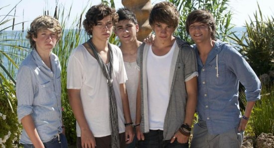 An early One Direction picture