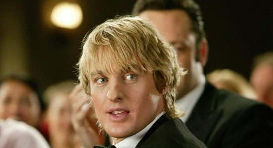 Owen Wilson with Vince Vaughn in The Wedding Crashers