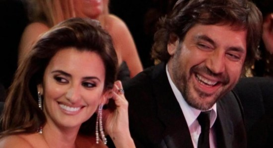 Penelope Cruz and Javier Bardem enjoy a joke