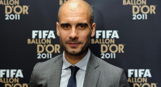 Pep Guardiola at the Ballon d'Or Awards in 2011