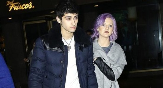 Zayn Malik with girlfriend Perrie Edwards